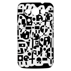 Black and white abstract chaos Samsung Galaxy Win I8550 Hardshell Case