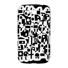 Black and white abstract chaos Samsung Galaxy Grand GT-I9128 Hardshell Case