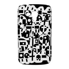 Black and white abstract chaos Samsung Galaxy Duos I8262 Hardshell Case