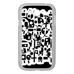 Black and white abstract chaos Samsung Galaxy Grand DUOS I9082 Case (White)