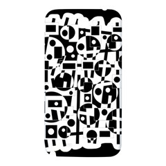 Black and white abstract chaos Samsung Note 2 N7100 Hardshell Back Case