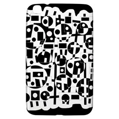 Black and white abstract chaos Samsung Galaxy Tab 3 (8 ) T3100 Hardshell Case