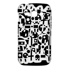 Black and white abstract chaos Samsung Galaxy Ace 3 S7272 Hardshell Case
