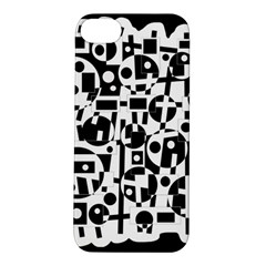 Black and white abstract chaos Apple iPhone 5S/ SE Hardshell Case