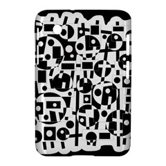 Black and white abstract chaos Samsung Galaxy Tab 2 (7 ) P3100 Hardshell Case