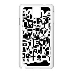 Black and white abstract chaos Samsung Galaxy Note 3 N9005 Case (White)