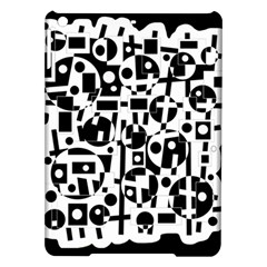 Black and white abstract chaos iPad Air Hardshell Cases
