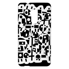 Black and white abstract chaos HTC One Max (T6) Hardshell Case