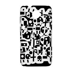 Black and white abstract chaos HTC Desire 601 Hardshell Case