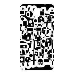 Black and white abstract chaos Samsung Galaxy Note 3 N9005 Hardshell Back Case
