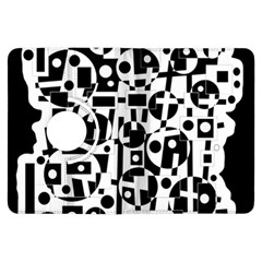 Black and white abstract chaos Kindle Fire HDX Flip 360 Case