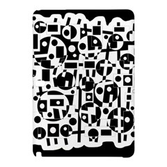 Black and white abstract chaos Samsung Galaxy Tab Pro 12.2 Hardshell Case
