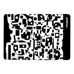 Black and white abstract chaos Samsung Galaxy Tab Pro 10.1  Flip Case