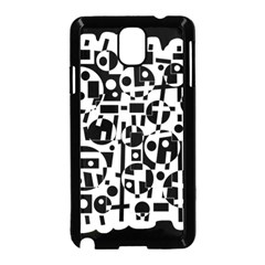 Black and white abstract chaos Samsung Galaxy Note 3 Neo Hardshell Case (Black)