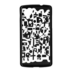 Black and white abstract chaos Nexus 5 Case (Black)