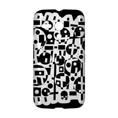 Black and white abstract chaos Motorola Moto G
