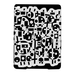 Black and white abstract chaos iPad Air 2 Hardshell Cases