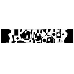 Black and white abstract chaos Flano Scarf (Large)
