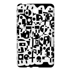 Black and white abstract chaos Samsung Galaxy Tab 4 (8 ) Hardshell Case