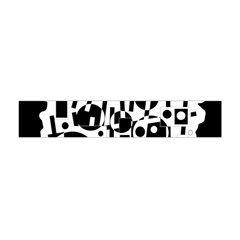 Black and white abstract chaos Flano Scarf (Mini)