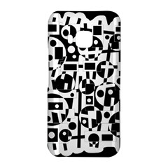 Black and white abstract chaos HTC One M9 Hardshell Case