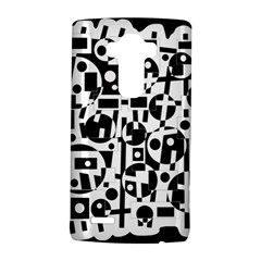 Black and white abstract chaos LG G4 Hardshell Case