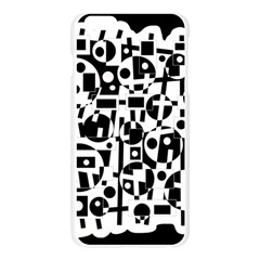 Black and white abstract chaos Apple Seamless iPhone 6 Plus/6S Plus Case (Transparent)