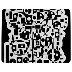Black and white abstract chaos Jigsaw Puzzle Photo Stand (Rectangular)