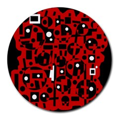 Red Round Mousepads
