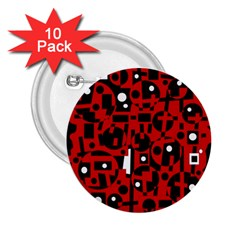 Red 2.25  Buttons (10 pack)