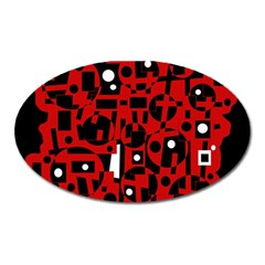 Red Oval Magnet