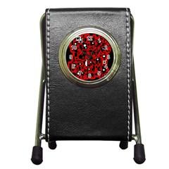 Red Pen Holder Desk Clocks