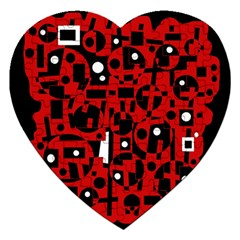 Red Jigsaw Puzzle (Heart)