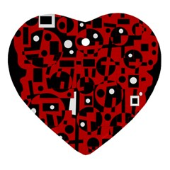 Red Heart Ornament (2 Sides)