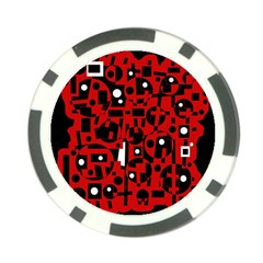 Red Poker Chip Card Guards