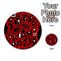 Red Multi-purpose Cards (Round)