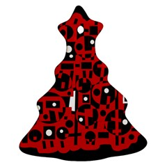 Red Christmas Tree Ornament (2 Sides)