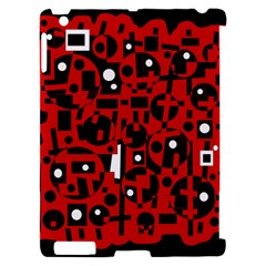 Red Apple iPad 2 Hardshell Case (Compatible with Smart Cover)