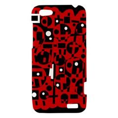 Red HTC One V Hardshell Case