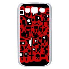 Red Samsung Galaxy S III Case (White)