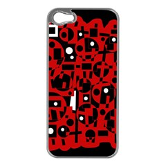 Red Apple iPhone 5 Case (Silver)