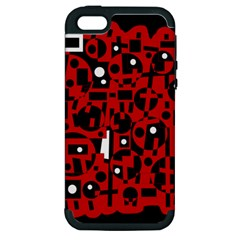 Red Apple iPhone 5 Hardshell Case (PC+Silicone)