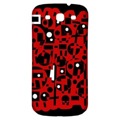 Red Samsung Galaxy S3 S III Classic Hardshell Back Case