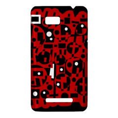 Red HTC One SU T528W Hardshell Case