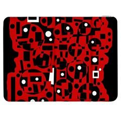 Red Samsung Galaxy Tab 7  P1000 Flip Case