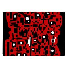Red Samsung Galaxy Tab 10.1  P7500 Flip Case