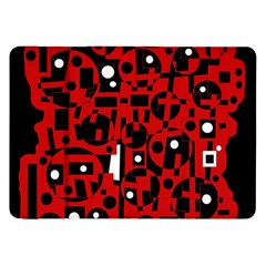 Red Samsung Galaxy Tab 8.9  P7300 Flip Case