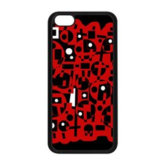 Red Apple iPhone 5C Seamless Case (Black)