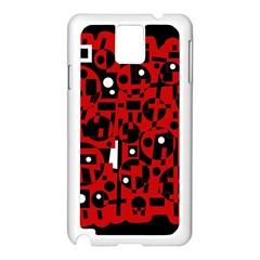 Red Samsung Galaxy Note 3 N9005 Case (White)