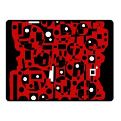 Red Double Sided Fleece Blanket (Small)